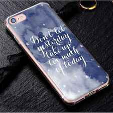 Words Pattern Soft Silicone Case Rubber Phone Cover for iPhone Samsung Huawei