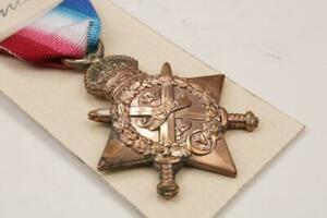BRITISH COMMONWEALTH FORCES MILITARY WW1 AUGUST NOVEMBER 1914 MONS STAR MEDAL