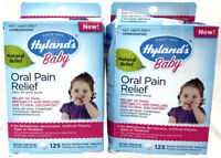 (2) Hyland's Baby Homeopathic Oral Pain Relief New & Sealed 125 Tablets EACH