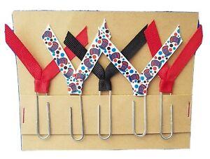 Set of 5 Handmade Decorative Paper Clip Planner Book Marks - DR SEUSS School