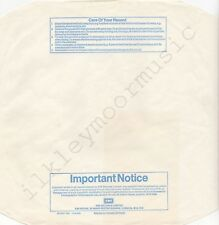 "Vintage INNER SLEEVE or SLEEVES 12"" EMI paper blu Important Notice PATENT L x 1"