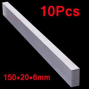 10Pcs 150x20x6mm Aluminum Heat Sink Long LED Cooling Fin For1W,3W,5W Power