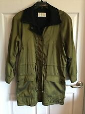 Jones Of New York Olive & Black Metalic  Fully Lined  Cold Weather Coat Zips