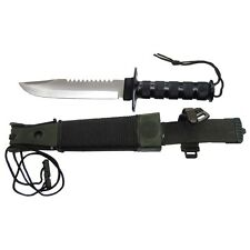 Survival Knife Jungle cinturón cuchillo con sobre vida equipamiento Hunting Knife cuchillo