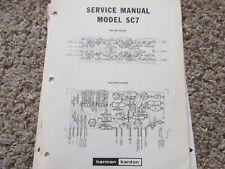 HARMAN KARDON SC7 SC 7 ORIGINAL SERVICE TECHNICAL MANUAL