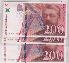 200 FRANCS EIFFEL 1999 ALPHABET R NEUF