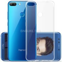 For Huawei Honor 9 Lite Clear Slim Gel Case & Glass Screen Protector