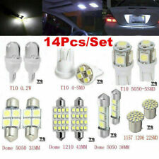 14x LED Light Interior Accessory Kit for T10 & 31mm Map Dome+License Plate White