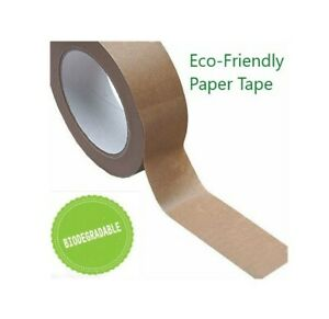 38mm x 50m Biodegradable Brown Kraft Paper Tape - Eco Friendly - Recyclable Tape