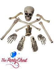 Bolsa De Huesos Y Cráneo Esqueleto Decoración para fiesta de Halloween dulce o travesura Prop Set