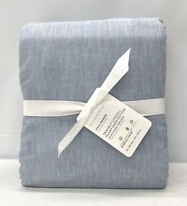 NEW Pottery Barn Ultra Soft TENCEL™/Cotton FULL/QUEEN Duvet Cover~Waterfall Blue