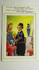 1957 Vintage Comic Postcard Machine Shop Tools Lathe Engineering Works Foreman