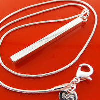 FSA960 GENUINE REAL 925 STERLING SILVER SF LADIES DROP PENDANT NECKLACE CHAIN