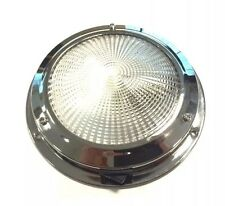 Cabin light 12V Interior Stainless Steel 140MM Base/ Boat/Caravan/Horseboxes