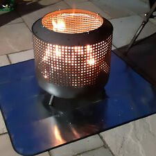 More details for fire pit mat for decking   large 100 x 100cm   firepit mat for grass or patio