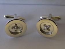 sterling silver button swivel cufflinks uk made