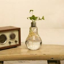 Light Bulb Stand Glass Flower Vase Pot Hydroponic Container Home Wedding