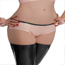 Sexy Pink Latex Briefs  Women's Shorts Panties Gummi 0.4mm for Party Wear