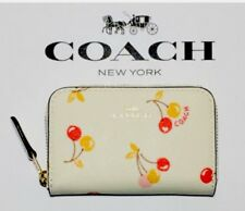 Coach Mini Cherry Print Leather Coin/Card Case