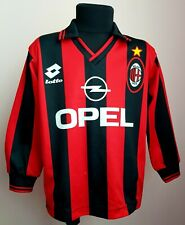 Ac Milan 1995 - 1996 Home football Lotto long sleeve kids jersey