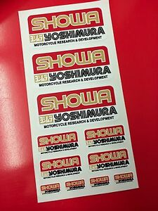 11 Adhesives Stickers Yoshimura Showa Gold & Red Heavy Duty The Heat
