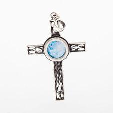 Great 925 Sterling Silver Ancient Roman Glass Garnet Pendant - Unique Jewelry