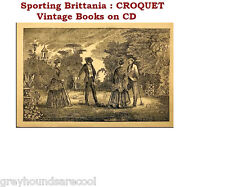 Croquet Roquet Collection Vintage Books on Data Disc Gift Quality
