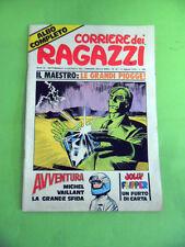 CORRIERE DEI RAGAZZI N°32.11 AGOSTO 1974.IL MAESTRO-MICHEL VAILLANT-JOLLY FLIPPE