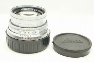 """""""EXCELLENT"""" LEICA Summicron 5cm F2 MF Collapsible Lens for M Mount #210908e"""