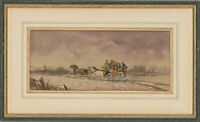 Manner of Philip H. Rideout (1860-1920) - Watercolour, Coach with Four Horses