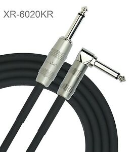 "20ft. Kirlin 1/4"" Mono Straight/Right-Angle Male/Male Instrument Cable"
