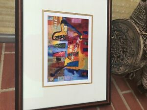 Medium Vintage Lithography Artist Livre Signed and Numbered.
