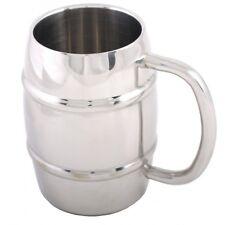 Beer Mug Barrel Shape Drinking Cup Stainless Steel Coffee Tea Latte Bar Camping