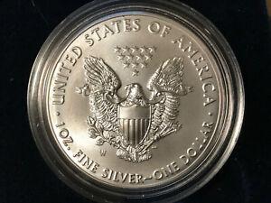 2020 W American Eagle One Ounce Silver Uncirculated Burnished Coin BOX COA 20EG