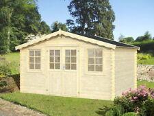 28mm Gartenhaus 400x300 cm Gerätehaus Holzhaus Holz Blockhaus Schuppen Hütte Neu