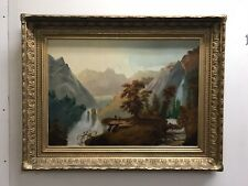 Hudson River School painting Oil on Canvas1800's  Large Gold leaf Frame CROPSEY