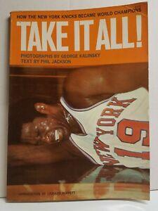 Willis Reed NEW YORK KNICKS Book TAKE IT ALL! Phil Jackson NY Basketball 1970