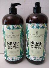 Measurable Difference HEMP Hydrating SHAMPOO & CONDITIONER 32 oz Pump Bundle