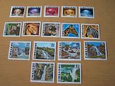 ZIMBABWE DEFINITIVE SET,16 VALS,U/MINT,INC SCARCE 40C VALUE.EXCELLENT.