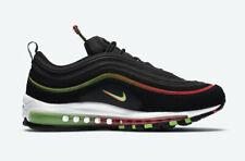 Nike Air Max 97 Hombre Negro Rojo Verde Blanco entrenador de todos los tamaños de zapatos en todo el mundo