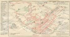 Print. 1936-8. Map of San Francisco Market Street Railway Routes