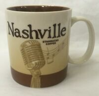 Starbucks Nashville Tennessee Coffee Mug 2011 City Cup Brown Microphone 16 oz