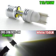 2 X Blanco W5W T10 501 CREE CANBUS 30W LED indicador de Lado Del Coche Bombilla alpina