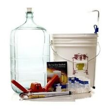 Complete Home Brewing Kit Beer Brew Wine Making Equipment w 6 Gal Glass Carboy
