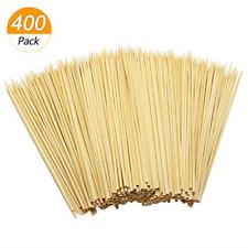 400Pcs Wooden Bamboo Skewers Sticks for BBQ Fruit Chocolate Fountain Fondue K...
