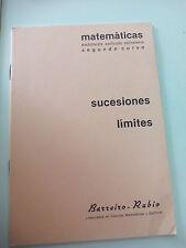 CUADERNO BARREIRO-RUBIO. MATEMATICAS. Sucesiones límites 2º curso