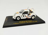 """IXO 1:43 - RAC023 MG Metro 6R4 """"Clarion"""" 1000 lakes Rally 1986 Eklund Whittock"""