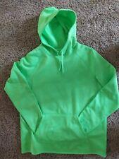 Nike Women's pullover hooded Fleece inside Nylon outside Size L