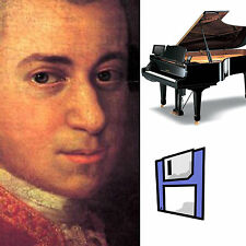Mozart Classical Solo Piano Collection for Pianodisc PDS128/228  3 Floppy Disks.