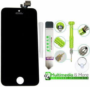 Display für iPhone 5 RETINA LCD Front Glas Bildschirm Scheibe BLACK SCHWARZ NEU